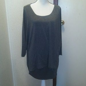 Dress barn Woman Gray  layered shirt 1X